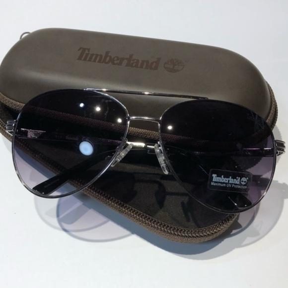 3abfc46e7d5 NWT Timberland Aviator Silver-Tone Sunglasses